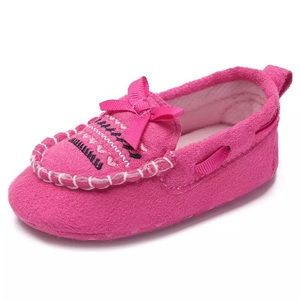 NEW Baby Moccasin Slippers in Pink